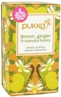 Pukka Herbs - Organic Herbal Tea Lemon, Ginger & Manuka Honey - 20 Tea Bags (5060229011534)