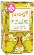 Pukka Herbs - Organic Herbal Tea Lemon, Ginger & Manuka Honey - 20 Tea Bags by Pukka Herbs