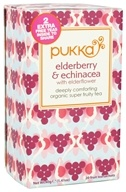 Pukka Herbs - Organic Super Fruity Tea Elderberry & Echinacea with Elderflower - 20 Tea Bags