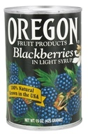 Oregon Fruit Products - Blackberries in Light Syrup - 15 oz. (041345105128)