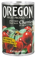 Oregon Fruit Products - Pitted Cherries Dark Sweet in Heavy Syrup - 15 oz., from category: Health Foods