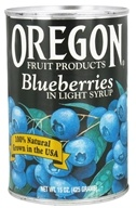 Oregon Fruit Products - Blueberries in Light Syrup - 15 oz., from category: Health Foods