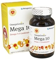 Image of Metagenics - OmegaGenics Mega 10 Omega 7 + 3 Combination - 60 Softgels