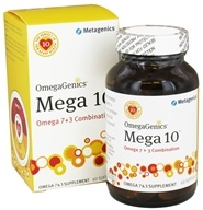 Metagenics - OmegaGenics Mega 10 Omega 7 + 3 Combination - 60 Softgels - $42.95