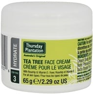 Thursday Plantation - Tea Tree Face Cream Step 3 Hydrate - 2.29 oz.