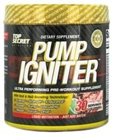 Top Secret Nutrition - Pump Igniter Pre-Workout 30 Servings Cherry Limeade - 8.25 oz. (855659004592)
