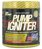 Top Secret Nutrition - Pump Igniter Pre-Workout 30 Servings Grape - 7.93 oz. by Top Secret Nutrition