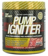 Top Secret Nutrition - Pump Igniter Pre-Workout 30 Servings Red Raspberry - 7.93 oz. by Top Secret Nutrition