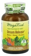 MegaFood - Dream Release - 30 Tablets - $17.20