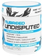 Nubreed Nutrition - Undisputed Pre Workout Powerhouse Blue Raspberry - 11.28 oz. by Nubreed Nutrition