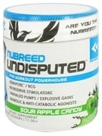 Nubreed Nutrition - Undisputed Pre Workout Powerhouse Sour Apple Candy - 11.28 oz. by Nubreed Nutrition