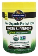 Image of Garden of Life - Perfect Food RAW Organic Green Super Food Chocolate Cacao - 20 oz.