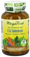 MegaFood - E & Selenium - 60 Tablets, from category: Vitamins & Minerals