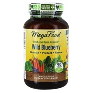 MegaFood - Wild Blueberry - 90 Chewable Tablets - $27.97