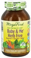 Image of MegaFood - Baby & Me Herb Free Multivitamin - 120 Tablets