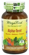 MegaFood - Alpha-Teen Multivitamin - 90 Tablets - $35.97