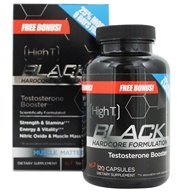 High T - Black Testosterone Booster Hardcore Formulation Free Bonus! - 152 Capsules by High T