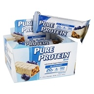 Image of Pure Protein - Greek Yogurt High Protein Bar Blueberry - 6 x 1.76 oz. Bars
