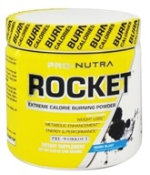 Pro Nutra - Rocket Pre-Workout Extreme Calorie Burning Powder Berry Blast - 5.29 oz. - $29.39