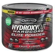 Muscletech Products - Hydroxycut Hardcore Elite Powder Performance Series Fruit Fusion 30 Servings - 83 Grams by Muscletech Products