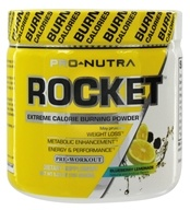 Pro Nutra - Rocket Pre-Workout Extreme Calorie Burning Powder Blueberry Lemonade - 5.29 oz. - $29.39
