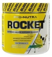 Pro Nutra - Rocket Pre-Workout Extreme Calorie Burning Powder Blueberry Lemonade - 5.29 oz. (851330004363)