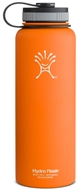 Hydro Flask - Stainless Steel Water Bottle Vacuum Insulated Wide Mouth Orange Zest - 40 oz.