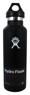 Hydro Flask - Stainless Steel Water Bottle Vacuum Insulated Standard Mouth Black - 21 oz.