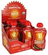 Image of Mamma Chia - Organic Chia Squeeze Vitality Snack Apple Cinnamon 1200 mg. - 3.5 oz.