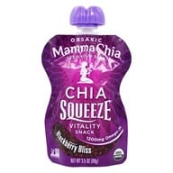 Mamma Chia - Organic Chia Squeeze Vitality Snack Blackberry Bliss 1200 mg. - 3.5 oz. (856516002096)