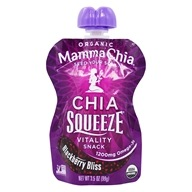 Mamma Chia - Organic Chia Squeeze Vitality Snack Blackberry Bliss 1200 mg. - 3.5 oz. by Mamma Chia