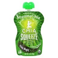 Mamma Chia - Organic Chia Squeeze Vitality Snack Green Magic 1200 mg. - 3.5 oz. by Mamma Chia