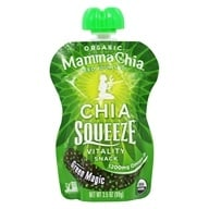 Mamma Chia - Organic Chia Squeeze Vitality Snack Green Magic 1200 mg. - 3.5 oz. - $1.69
