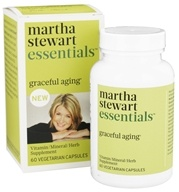 Martha Stewart Essentials - Graceful Aging Vitamin Supplement - 60 Vegetarian Capsules
