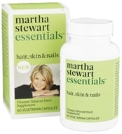 Martha Stewart Essentials - Hair, Skin & Nails Supplement - 60 Vegetarian Capsules