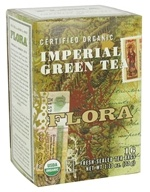Flora - Certified Organic Imperial Green Tea - 16 Tea Bags, from category: Teas