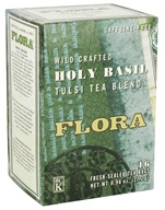 Flora - Wild Crafted Holy Basil Tulsi Tea Blend Caffeine-Free - 16 Tea Bags (061998636947)