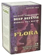 Flora - Herbal Tea Blend Deep Defense Caffeine-Free - 16 Tea Bags