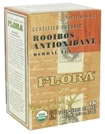 Flora - Certified Organic Herbal Tea Rooibos Antioxidant Caffeine-Free - 16 Tea Bags (061998637807)