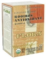 Flora - Certified Organic Herbal Tea Rooibos Antioxidant Caffeine-Free - 16 Tea Bags by Flora