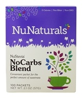 NuNaturals - NuStevia NoCarbs Blend - 100 Packet(s)