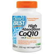 Doctor's Best - High Absorption CoQ10 with BioPerine 200 mg. - 180 Vegetarian Capsules