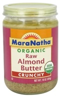 MaraNatha - Organic Raw Almond Butter Crunchy - 16 oz. by MaraNatha