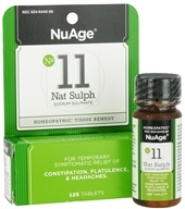 NuAge - #11 Nat Sulph Sodium Sulphate Homeopathic Tissue Remedy - 125 Tablets