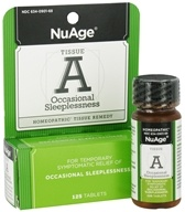 NuAge - Tissue A Occasional Sleeplessness Homeopathic Remedy - 125 Tablets (354973090187)