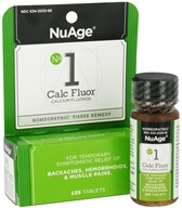 NuAge - #1 Calc Fluor Calcium Fluoride Homeopathic Tissue Remedy - 125 Tablets - $3.89