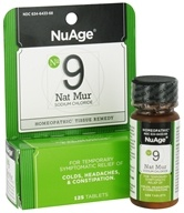 NuAge - #9 Nat Mur Sodium Chloride Homeopathic Tissue Remedy - 125 Tablets