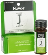NuAge - Tissue J Colds Homeopathic Remedy - 125 Tablets - $3.78
