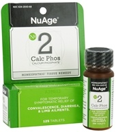 NuAge - #2 Calc Phos Calcium Phosphate Homeopathic Tissue Remedy - 125 Tablets
