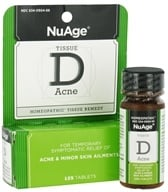 NuAge - Tissue D Acne Homeopathic Remedy - 125 Tablets - $4.68